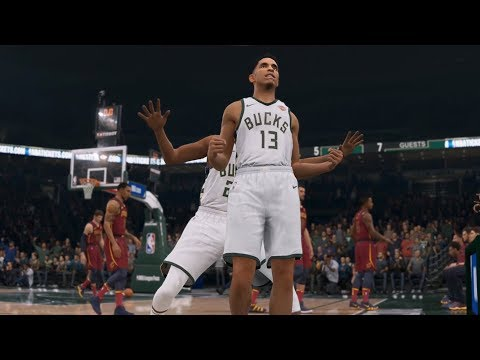 NBA Live 19 - Milwaukee Bucks vs Cleveland Cavaliers - Gameplay (HD) [1080p60FPS]