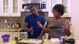 COOKING WITH CARLINA: SANTWON ATTEMPTS ROASTED POTATOES RECIPE!