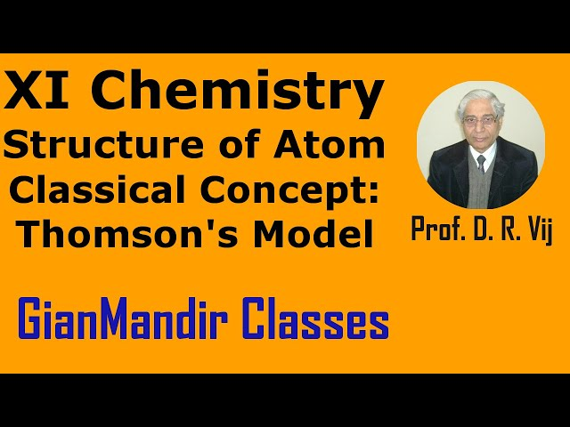 XI Chemistry - Structure of Atom - Classical Concept: Thomson's Model by Ruchi Mam