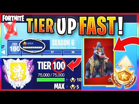 "How To GET FREE TIER 100 ""MAX BATTLE PASS"" IN SEASON 6! - FASTEST WAY To LEVEL / RANK UP In Fortnite"