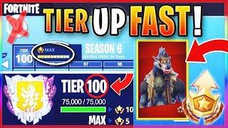 """Como obter FREE TIER 100 """"MAX BATTLE PASS"""" na temporada 6! -MANEIRA mais rápida de nível/RANK UP em Fortnite"""