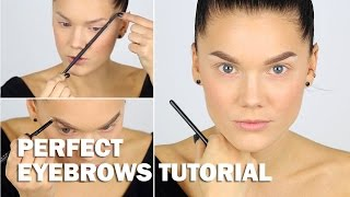 Perfect Eyebrows tutorial (with subs) - Linda Hallberg Makeup Tutorials