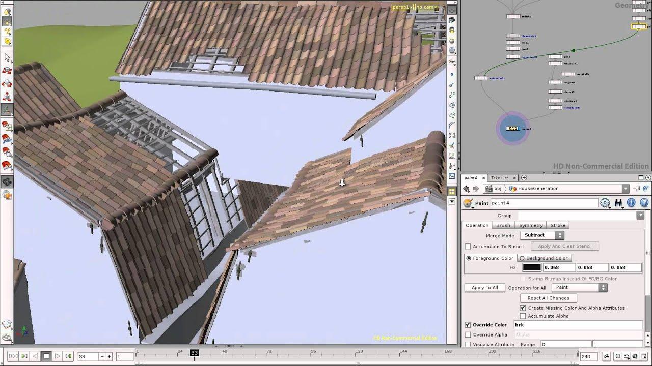 Procedural roof generator