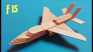 How to make a plane with popsicle sticks. F 15 airplane