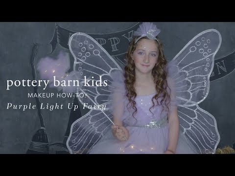 Easy Halloween Makeup Tutorial - Light Up Fairy Costume for Pottery Barn Kids
