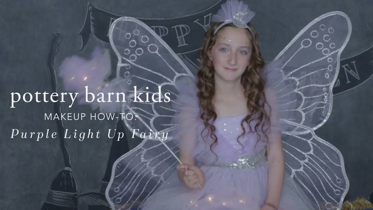 easy halloween makeup tutorial - light up fairy costume for pottery