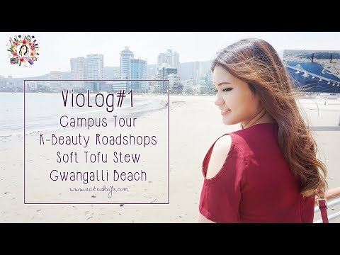 VioLog#1: Campus Tour, Korean Cosmetics Roadshops, Soft Tofu Stew, Gwangalli Beach