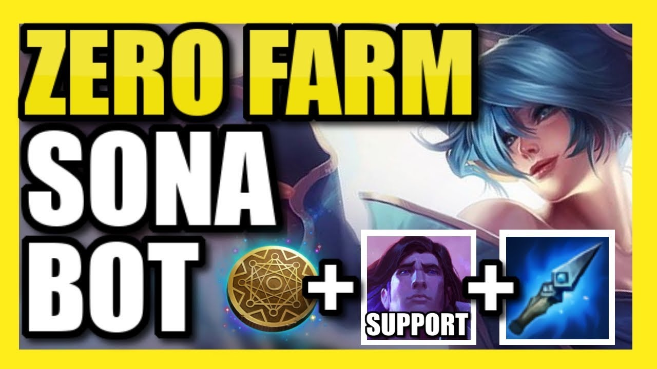 NOT EVEN PROS CAN BEAT THIS SONA+TARIC BOT STRAT! ZERO FARM SONA w/ KLEPTO!  | (As seen in the LCS)