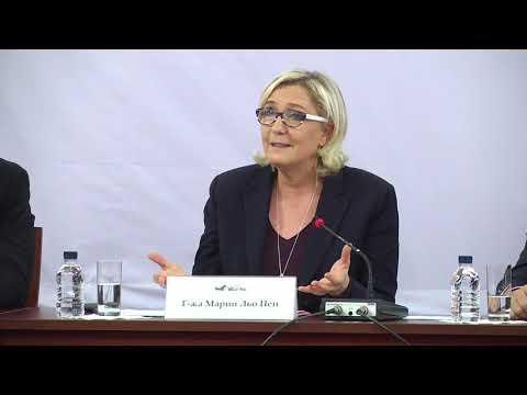 Conférence de presse de Marine Le Pen à Sofia (Bulgarie) (16/11/2018)