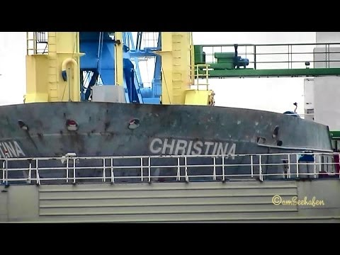 CHRISTINA V2PX5 IMO 9184811 in Shipyard Cassens Dock  Emden Germany