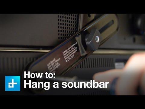 How To Hang A Sound Bar Using The Sanus SA405 Sound Bar Mount