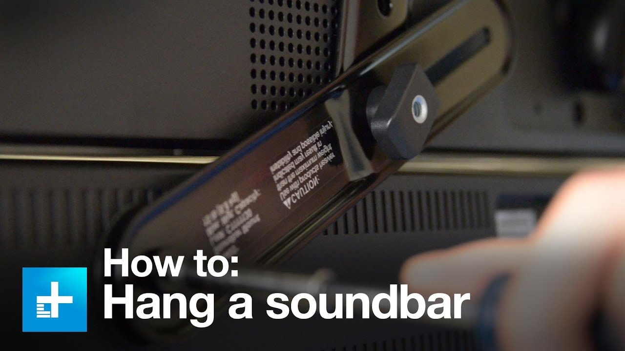 How To Put A Tv On A Wall How To Hang A Sound Bar Using The Sanus Sa405 Sound Bar