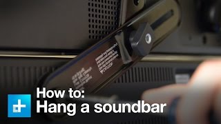 How to hang a sound bar using the Sanus SA405 sound bar mount