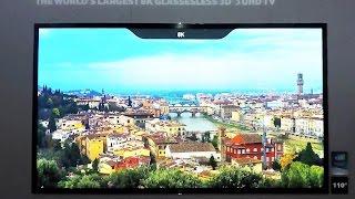 The Worlds Largest 8k Glassesless 3d SHDTV - CES 2015