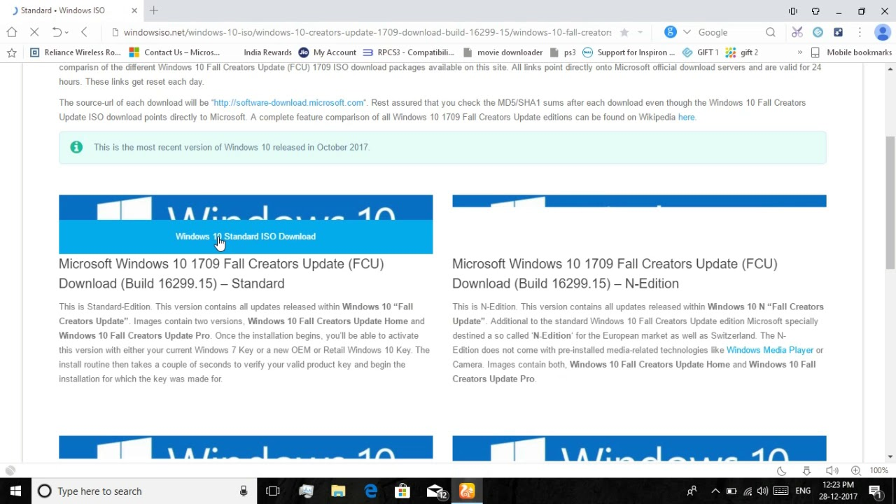 How to download Windows 10 1709 latest version for PC 2018 || By 3Tech
