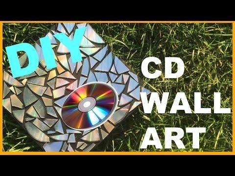 DIY CD Wall Art | Ashley Pizzaz