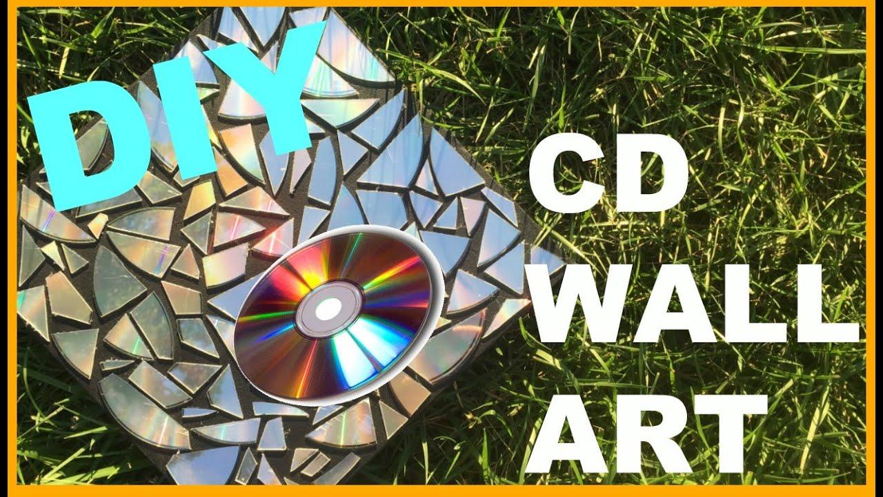 Diy Wall Decoration With Cd : Diy cd wall art ashley pizzaz