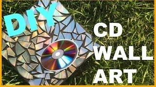 DIY CD Wall Art   Ashley Pizzaz