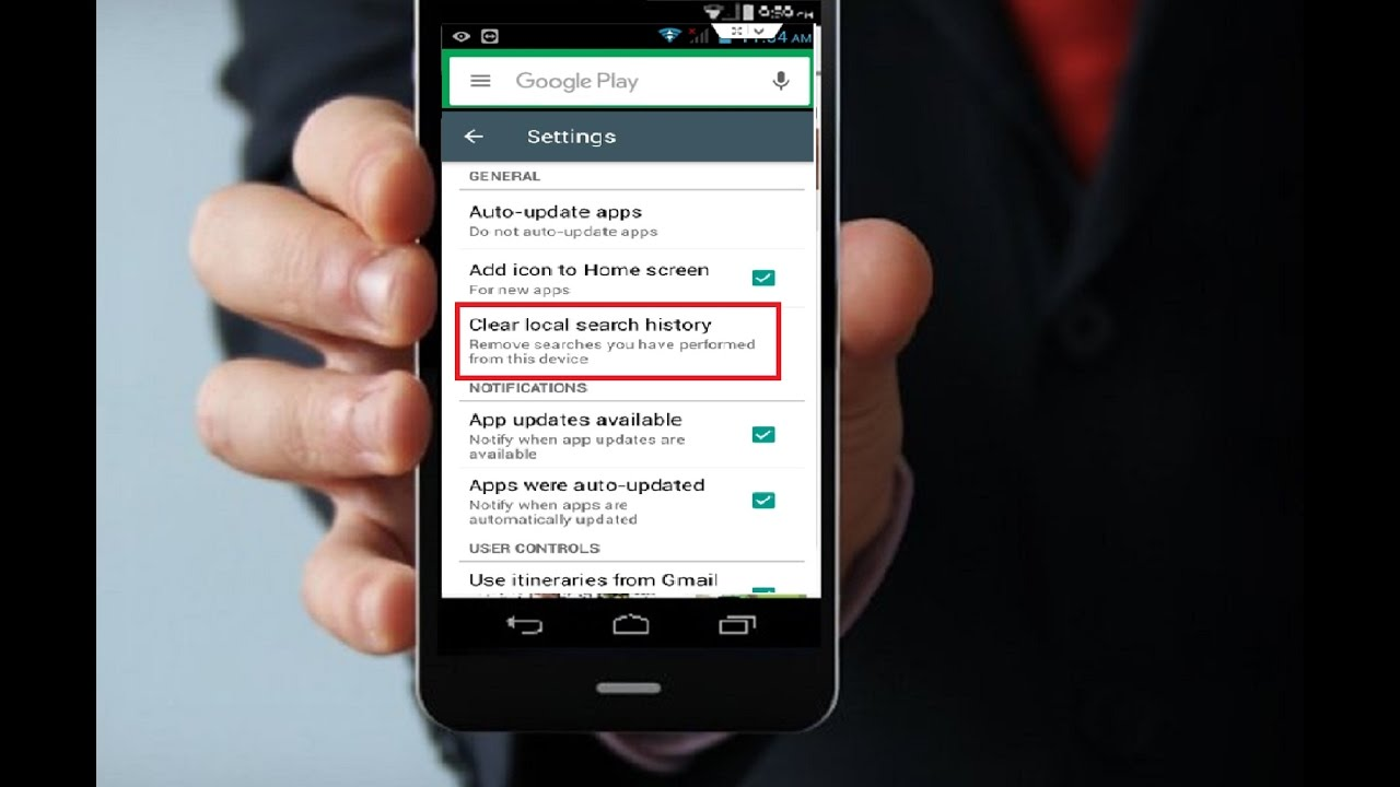 How To Clear Google Play Store Search History In Android