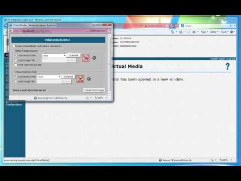 HP iLO Integrated Lights-Out web interface walkthrough on HP ProLiant DL380 G4