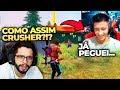 CRUSHER REVELA PRA PLAYHARD QUE JÁ BEIJOU UMA YOUTUBER DE FREE FIRE AO VIVO!!!