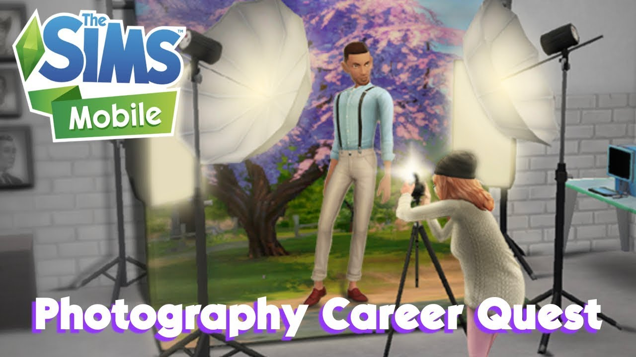The Sims Mobile Photography Career Quest Walk Through