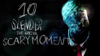 SLENDER THE ARRIVAL // TOP 10 SCARY SLENDER MAN MOMENTS part1( xbox 360 )