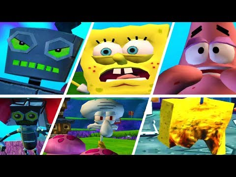 SpongeBob Battle for Bikini Bottom All Enemies Intro Cutscenes (PS2) ᴴᴰ  