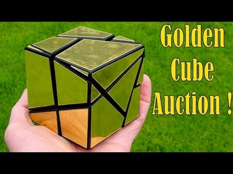 Tony Fisher's signed original Golden Cube (past auction)