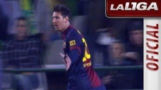 La Liga | Real Betis - FC Barcelona (1-2)  | 09-12-2012 | J15 | Resumen