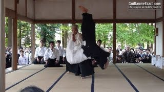 Aikido - Ueshiba Moriteru & Ueshiba Mitsuteru demonstration at the Aikijinja Taisai 2013