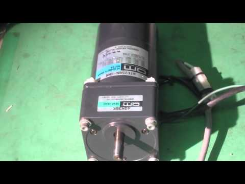 ORIENTAL MOTOR 4IK25GN-SWM+4GN36K  Motor with an electromagnetic brake 動作確認