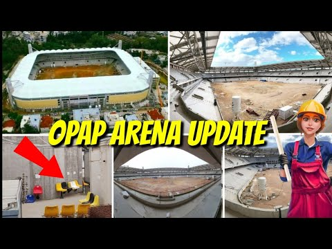 WOW!! OPAP Arena/Agia Sofia Stadium Update! The Roof, The Seat! New Home Of AEK Athens FC