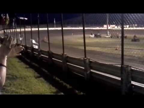 Joshua Moffitt, The Moffinator Outlaw Dirt Kart 125 English Creek Speedway, Heat 1 6-7-13