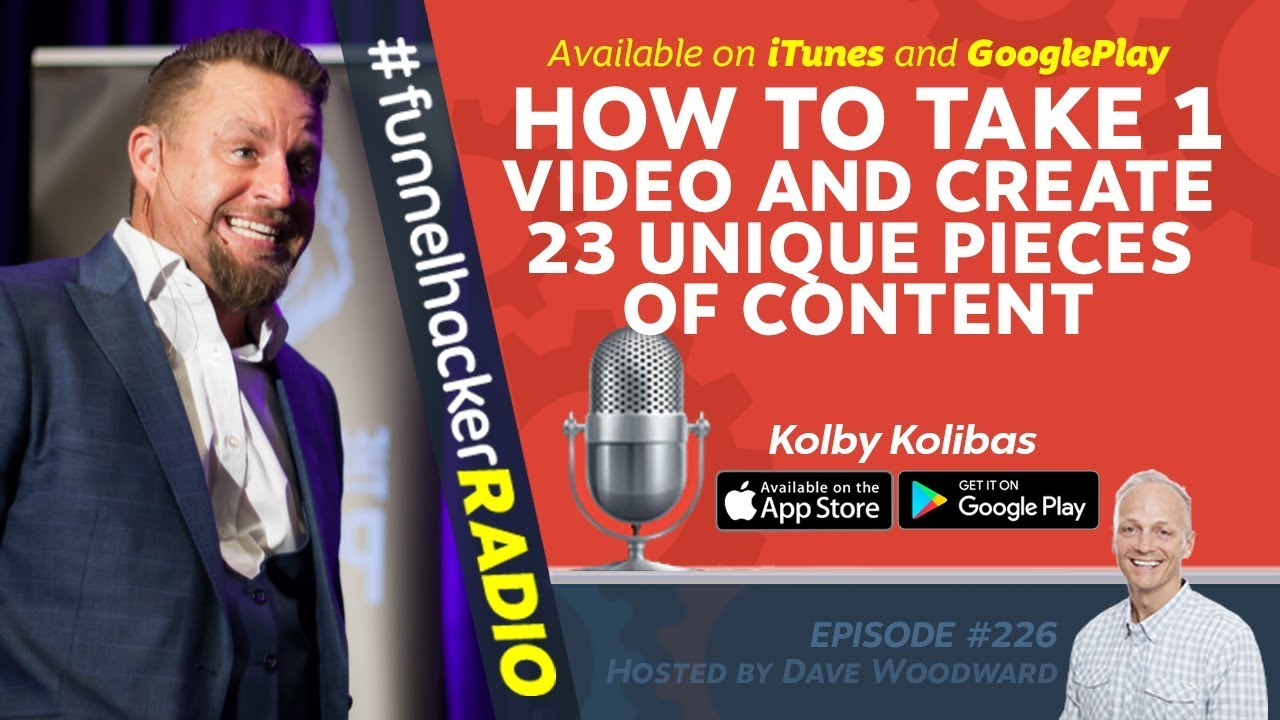 How To Take 1 Video And Create 23 Unique Pieces Of Content - Kolby Kolibas - FHR #226