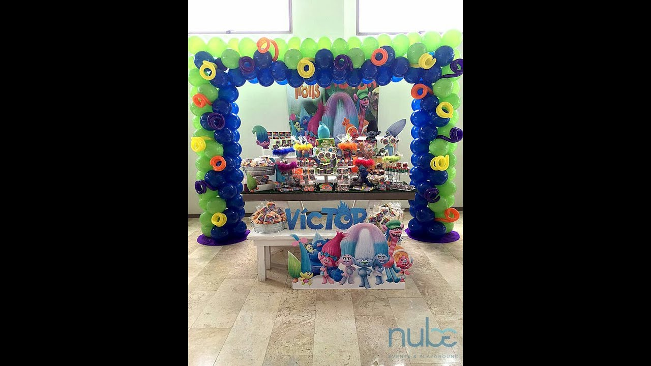 Fiesta de trolls para ni o 2017 party boys decoracion mesa for Decoracion para ninos