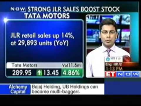 Strong JLR sales boost Tata Motors' stock.
