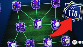 110 OVR!! THE HIGHEST POSSIBLE OVR IN FIFA MOBILE 19