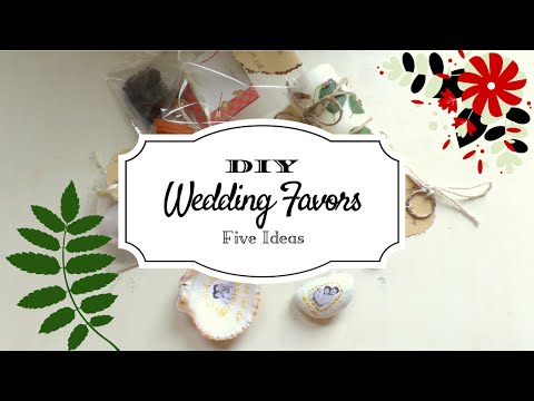 5 Creative Wedding Favor Ideas (Part 2) - DIY Easy and Affordable | by Fluffy Hedgehog