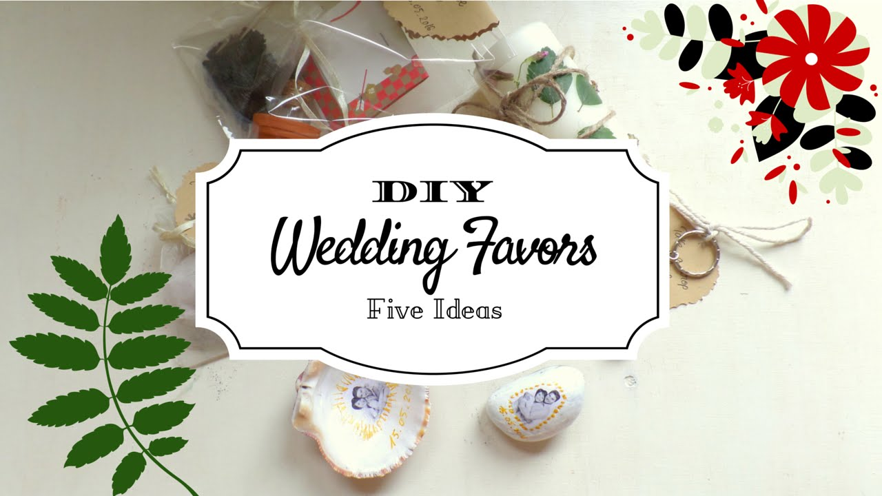 5 Creative Wedding Favor Ideas Part 1 Diy Easy And Affordable By Fluffy Hedgehog Youtube