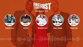 First Things First audio podcast(11.26.18)Cris Carter, Nick Wright, Jenna Wolfe | FIRST THINGS FIRST