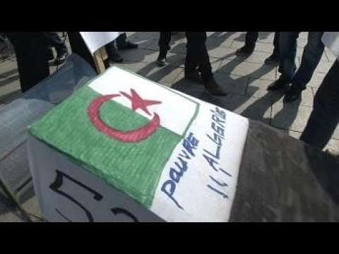 Campaigning against Bouteflika's re-election... in France
