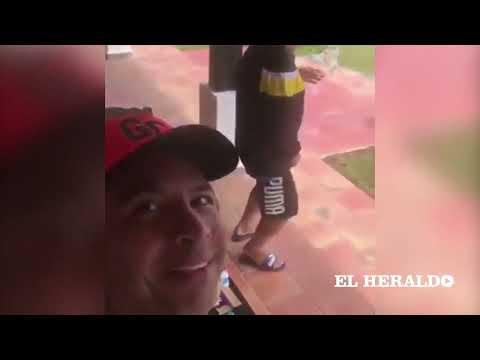 El video viral de Diego Maradona bailando vallenatos en Cali
