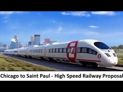 Chicago to Saint Paul High Speed Rail Line Proposal