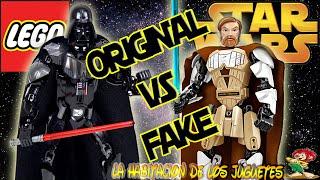 ORIGINAL VS FAKE, LEGO STAR WARS BUILDABLE FIGURES, FIGURAS PARA CONSTRUIR