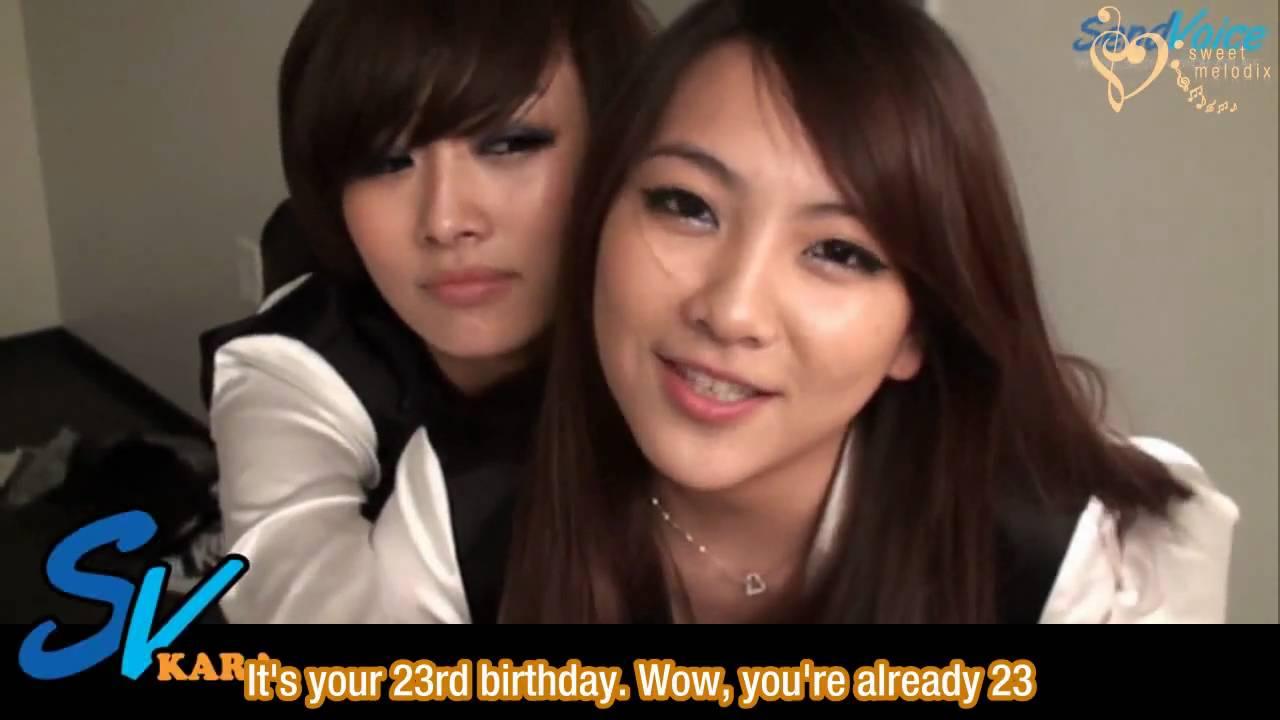 Kara birthday messages to Gyuri [en]