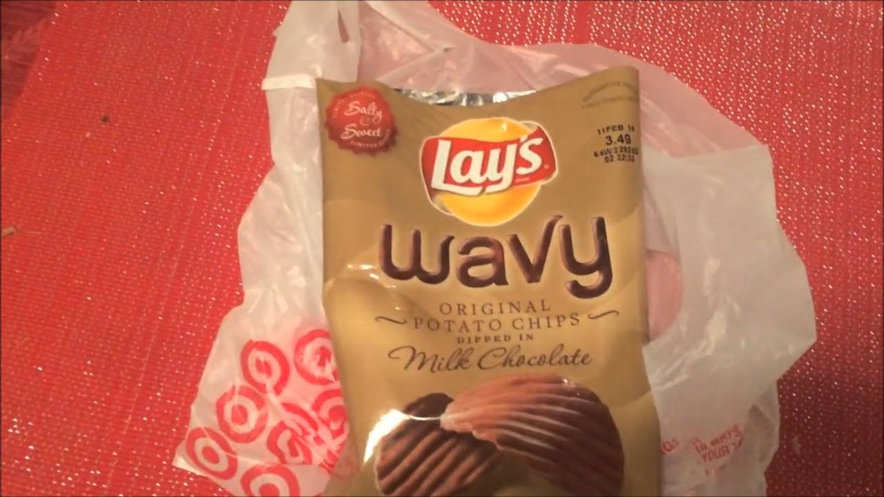 Lay's New Chocolate-Covered Potato Chips Review - YouTube