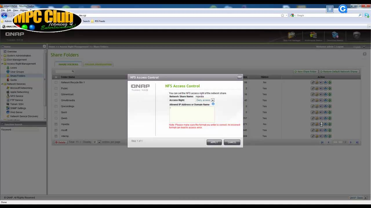 QNAP SMB and NFS Setup Demo mp4