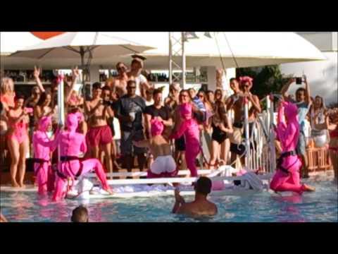 Pink Pool Party Ocean Beach Ibiza -...