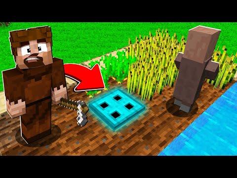 FAKİR KÖYDE GİZLİ ELMAS KAPI BULDU! 😱 - Minecraft